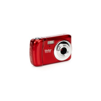Vivitar Vivicam X018 10.1 Megapixel Digital Camera - Strawberry