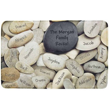 Personalized Family Rocks Comfort Mat