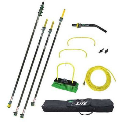 UNGER NLKU3 Water Fed Pole Kit,55 Ft. L,Black