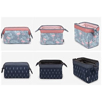 XICHEN 2 pcs Three-dimensional waterproof canvas cosmetic bag Bathroom, Storage (Feather egret)