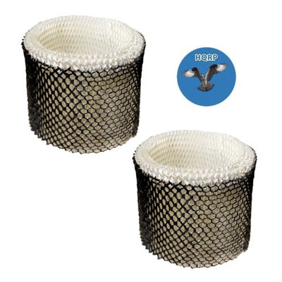 HQRP Wick Filter for Duracraft D88 DH888 DH890 DH890C DCM200 HCM890 DCM891B DCM891S Humidifier, AC-888 HC-888 Replacement + HQRP Coaster (Pack of 2)
