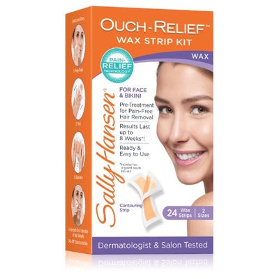 Sally Hansen Ouch-Relief Face Wax Strips 24.0 ea(pack of 3)