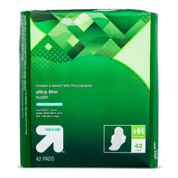 Ultra Thin Super Absorbancy Maxi Pads with Wings - Long - 44 ct - up & up™