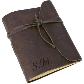 Monogramonline Personalized Genuine Leather-Bound Journal