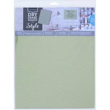 Crescent Cardboard Co Color Notes Dry Erase Board, 11' x 14', Sage