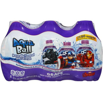 AquaBall Naturally Flavored Water, 6pack, Grape [Grape 6-pack]