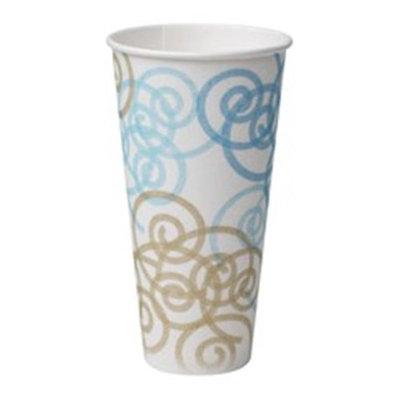 DIXIE 5364WM Insulated Disp. Hot Cup,24 oz, Wht, PK500