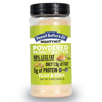 Peanut Butter & Co., Mighty Nut, Powdered Peanut Butter, Flax & Chia, 6.5 oz. (184 g) [Flavor : Flax & Chia]
