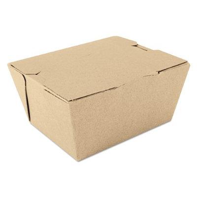 Sct ChampPak Carryout Boxes, 1lb, 4 3/8w x 3 1/2d x 2 1/2h, Brown