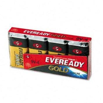 Eveready A5224 Gold Alkaline Batteries, 9V, 4 /Pk