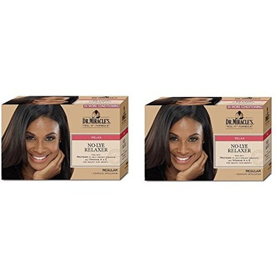 [ PACK OF 2] Dr. Miracle's NEW GROWTH Relaxer Kit, REGULAR 1 APP: Beauty