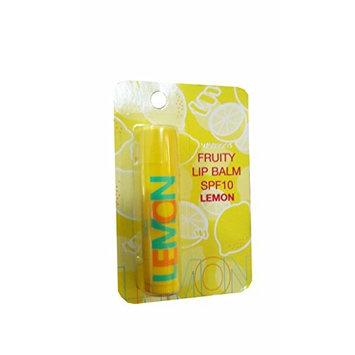 3 Packs of Watsons Fruity Lip Balm SPF10-Lemon, Lemon has an Enhanced moisturing and Nourishing Formula with a Refreshing Lemon Fragrance. (4.5g./ Pack)
