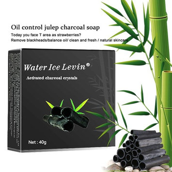 HJR Activated Bamboo Charcoal Natural Handmade Soap, Face Body Cleanser ,Oil Control Blackhead Clean, Benefits All Types Of Skin