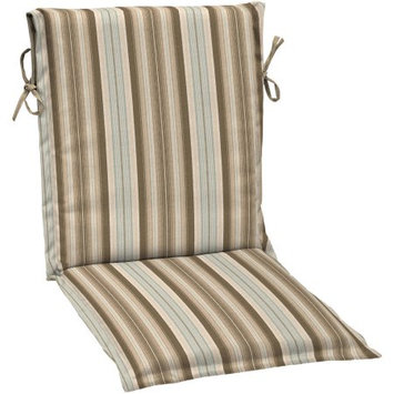 Arden Companies Better Homes and Gardens Outdoor Patio Reversible Sling Chair Cushion, Tan Blue Stripe