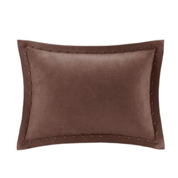 Hayes Stud Trim Micro suede Square Pillow