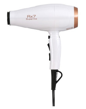 Rx7 Superlite White & Copper Ionic Tourmaline Hair Dryer Set