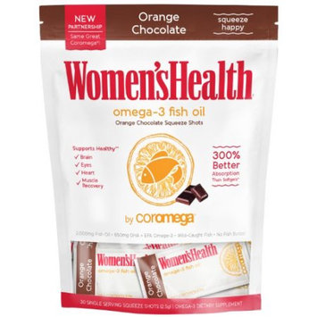 Coromega Women's Health Omega-3 Fish Oil +D, Orange Chocolate, 30 Ct