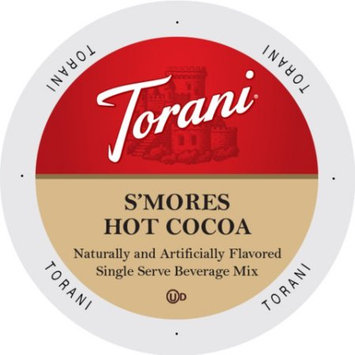 Single Cup Coffee Torani Indulgent Beverages Peppermint Bark Hot Chocolate, Single Serve Cup Portion Pack for Keurig K-Cup Brewers