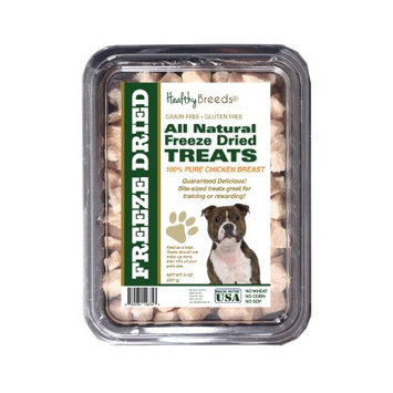 Healthy Breeds 840235146353 8 oz Staffordshire Bull Terrier All Natural Freeze Dried Treats Chicken Breast