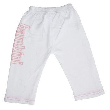 Bambini Girls White Pants with Print