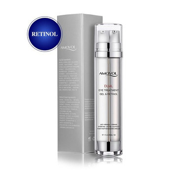 Eye Gel with Retinol for Dark Circles, Puffiness, Wrinkles and Bags, Day & Night Anti-Aging Eye Treatment Cream for Under and Around Eyes, Birthday Gift for Women and Men, 2 x 0.85oz