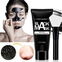 Black Mask - VKEN Blackhead Removal Charcoal Peel Off Mask with Brush Kit for Pore Oil Control