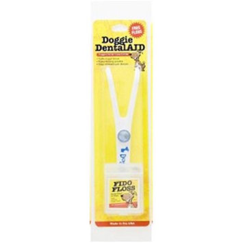 Doggie DentalAID 010-03 White Fido Floss Holder with Blue Letters