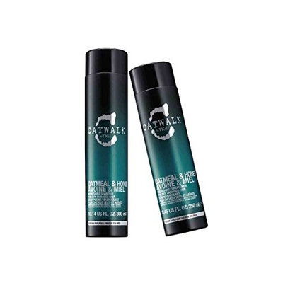 Tigi Catwalk Oatmeal & Honey Shampoo (Size 10.14 oz) and Conditioner (Size 8.45 oz) Duo pack