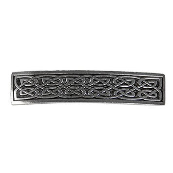 Small Celtic Hair Clip - Hand Crafted Metal Barrette Made in the USA with imported French Clips By Oberon Design …