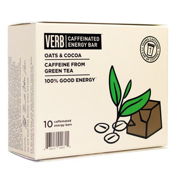 Verb Caffeinated Energy Bar (Oats and Cocoa, Box of 10)