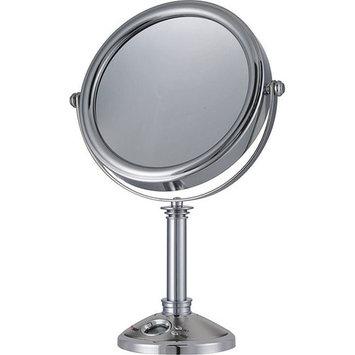 E-Ware 10x/1x Cosmetic Clock and Mirror