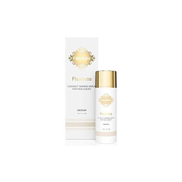 Self Tanning Serum Flawless Coconut by Fake Bake | Lightweight Serum Formulation with Coconut Oil, Hyaluronic Acid, Silk Amino Acids and Glycerin | 5 fl oz