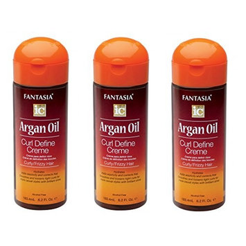[VALUE PACK OF 3 ] FANTASIA IC ARGAN OIL CURL DEFINE CREAM 6.2 OZ : Beauty