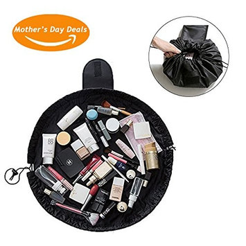 Prime Sale Day Deals Week 2018- Lazy Makeup Bag Drawstring Cosmetic Bag Portable Quick Pack Travel Makeup Pouch Case Multifunctional Waterproof Toiletry Bags Makeup Brushes Bag