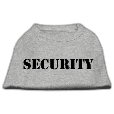 Mirage Pet Products 5148 XSGY Security Screen Print Shirts Grey with black text XS 8