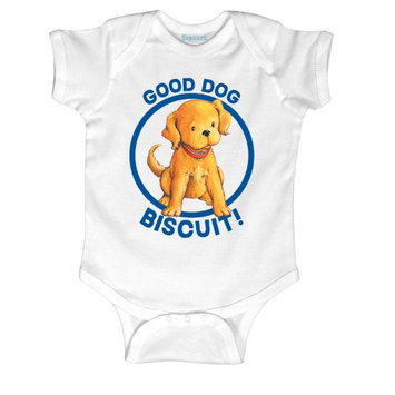 Kidteez Biscuit the Little Yellow Puppy Good Dog-INFANT One Piece-NB