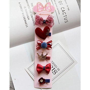 1pcs Accesories of Floral Elastic Bowknot 6X Set Girl Headbands Hairand Hair Accessories (Style-6)