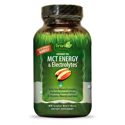 Coconut Oil MCT Energy & Electrolytes Irwin Naturals 60 Softgel