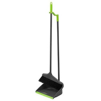 Home Basics PB41508 Brilliant Dustpan & Broom Set - Gray