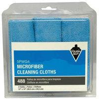 TOUGH GUY 5PWG4 Dust Cloth, Microfiber,12 in, Blue, PK3