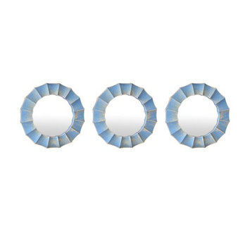 Three Hands Wall Mirror - Set of 3 - 10W x 10H in.