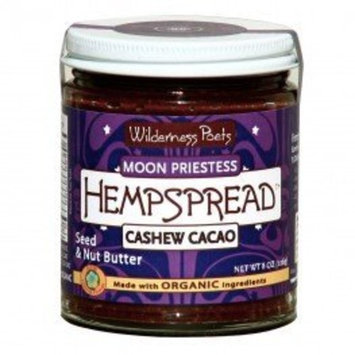 Wilderness Poets Raw Cashew Cacao Hempspread, Chocolate Nut Butter, 8 Ounce