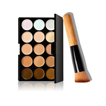Makeup Brush+15 Colors Makeup Concealer Contour Palette Saingace