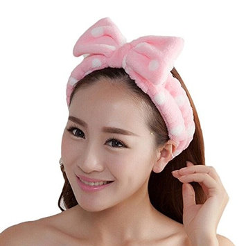 Bluelans Women Fashion Lovely Soft Carol Fleece Bowknot Bow Makeup Cosmetic Shower Elastic Hair Band Hairlace Headband