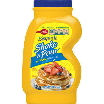 Betty Crocker Bisquick Baking Mix, Shake 'N Pour Pancake Mix, Buttermilk, 5.1 Oz Bottle