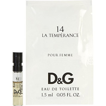 D & G 14 LA TEMPERANCE by Dolce & Gabbana EDT VIAL for WOMEN ---(Package Of 3)