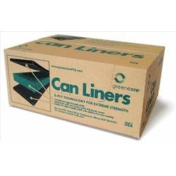 Greencore Recycled Plastic Can Liners 55 Gal (Black) - Case of 100