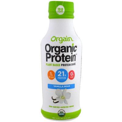 Orgain, Organic Protein Plant Based Protein Shake, Vanilla Bean Flavor, 14 fl oz (414 ml) [Flavor : Vanilla Bean]
