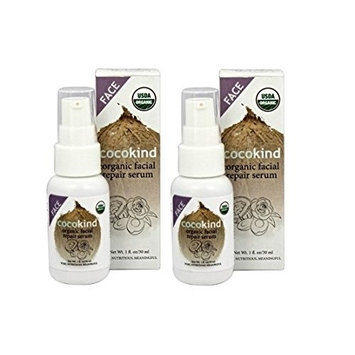 Cocokind Organic Repair Face Serum with Avocado and Coconut Oil, 1 fl. oz. (Pack of 2)