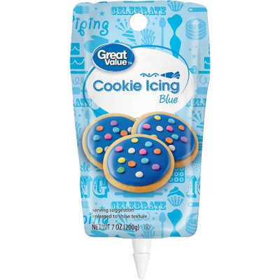 Wal-mart Stores, Inc. Great Value Cookie Icing, Blue, 7oz